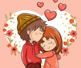 Our love cartoon illustration vector