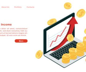 Passive income concept illustration vector