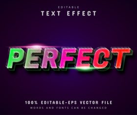 Perfect text gradient style text effect vector