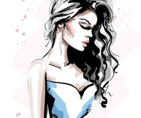 Personal style watercolor illustration vector