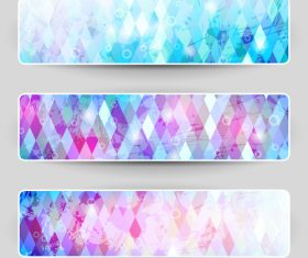 Pink and blue background banner vector