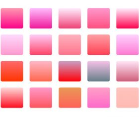 Pink color gradients big set background vector