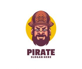 Pirate head logo vector