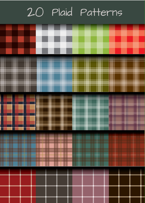 Plaid seamless background vector