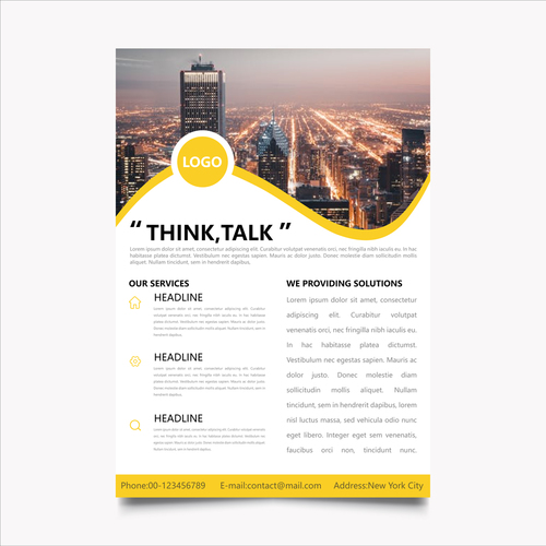 Planning book template vector