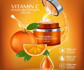 Plant essence cream advertisement vector