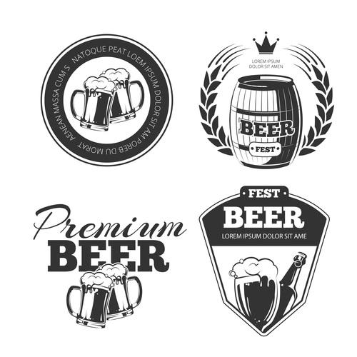 Premium beer emblem vector