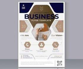 Print business poster vector