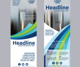 Printing business banners template vector