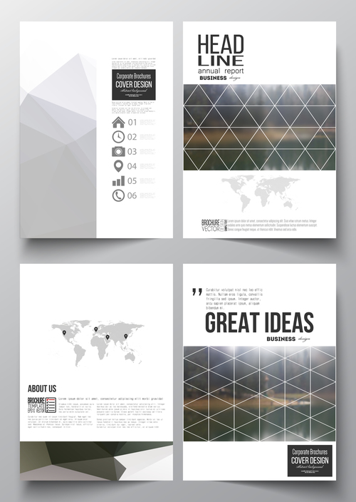 Product introduction cover design template vector