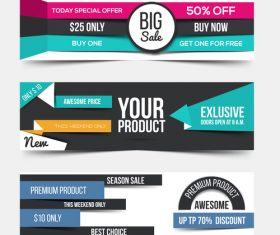 Promotion banner vector