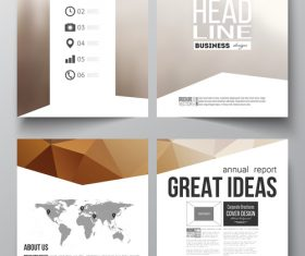 Promotional cover design template vector