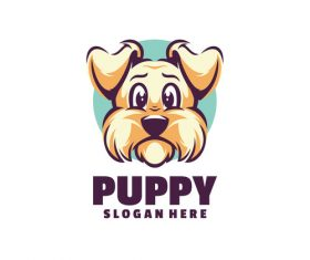 Puppy logo template vector