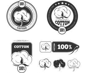 Pure cotton emblem vector