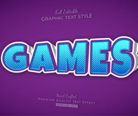 Purple background 3d text style effect vector