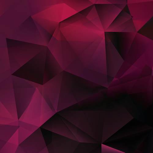 Purple geometric gradient abstract background vector