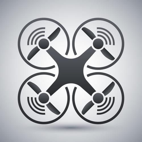 Quadcopter vector icon