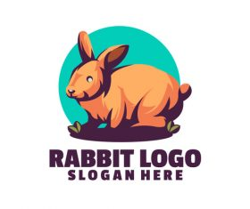 Rabbit logo vector