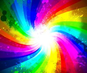 Rainbow splash abstract background vector