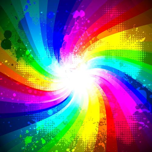 Rainbow splash abstract background vector