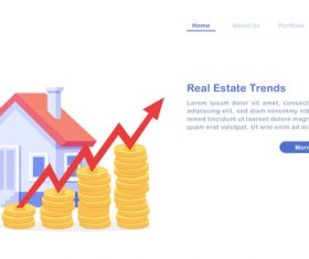 Real estate trends concept illustration vector