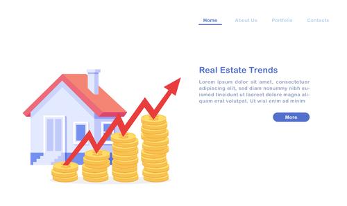 Real estate trends concept illustration vector