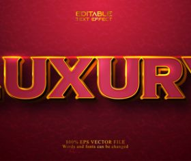 Red 3d text style vector