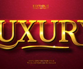 Red background golden 3d text style vector