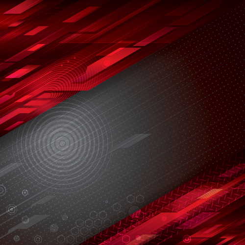 Red black abstract background vector