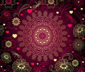 Red black summer element decoration pattern vector