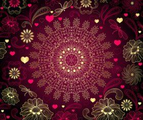 Red black summer element decoration pattern vector