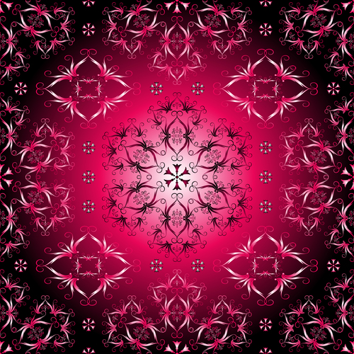 Red element decorative pattern vector