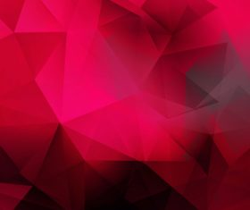 Red geometric gradient abstract background vector