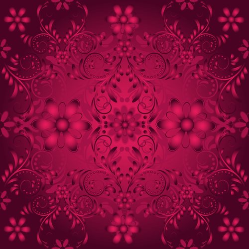 Red pattern decoration vector