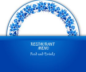 Restaurant art deco pattern vector