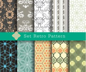 Retro seamless background vector