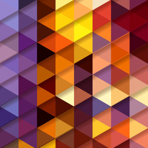Rhombus color background pattern vector