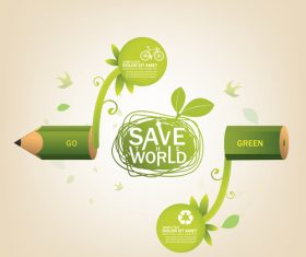 Save the world concept infographic vector