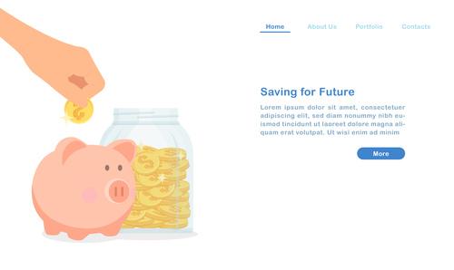 Saving for future concept illustration vector
