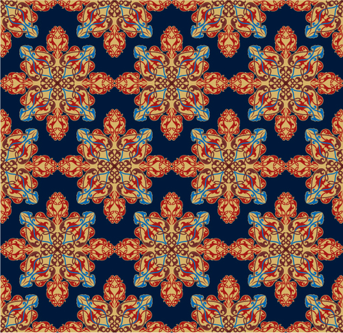 Seamless floral pattern decoration vector background