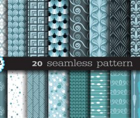 Seamless pattern set background vector