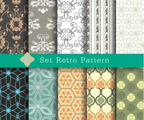 Ser retro pattern vector