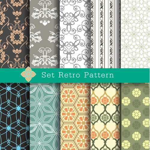 Ser retro pattern vector
