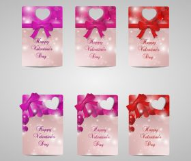 Set of Valentines day small cardsvector