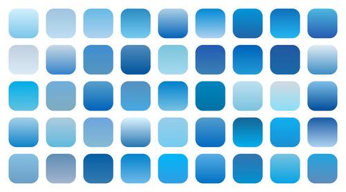 Set of blue sky gradient shades combinations vector