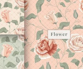 Shabby chic beautiful flowers pattern vector