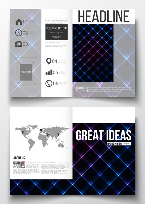 Simple line cover design template vector