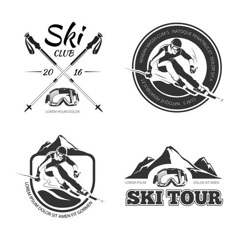 Ski logo vector