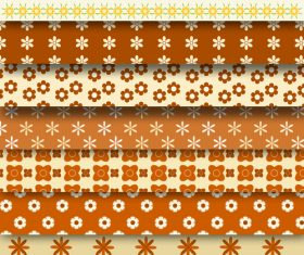 Small flower decorative background pattern vector