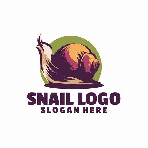 Snail logo vector